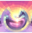 Abstract colorful technology concentric mosaic vector image