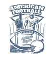 American Football Monochrome Print vector image vector image