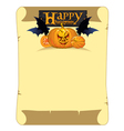 banner with congratulations Happy Halloween vector image