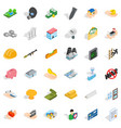 best body icons set isometric style vector image vector image