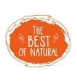 Best of Natural hand drawn isolated label vector image vector image
