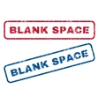 Blank Space Rubber Stamps vector image vector image