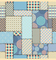 blue retro patchwork vector image vector image