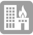 Burning Building vector image vector image