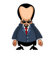 cartoon man with a big head in a suit vector image vector image