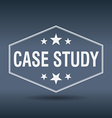 case study hexagonal white vintage retro style vector image vector image