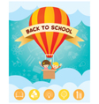 Children on Hot Air Balloon Back to School vector image vector image