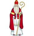 Christmas Character Sinterklaas colored vector image vector image
