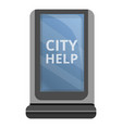 city help light box icon cartoon style vector image