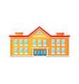 colorful brick school building vector image