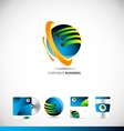 Corporate business 3d sphere logo icon design vector image vector image