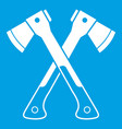 crossed axes icon white vector image vector image