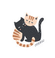 cute couple of cats hugging love concept kitten vector image