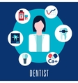 Dentist and dentistry concept vector image