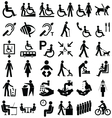 Disability and people Graphics vector image vector image