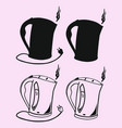 electric kettle silhouette vector image vector image