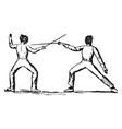 fencing vintage vector image vector image