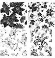 flor seamless set vector image vector image