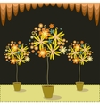 Floral Trees vector image