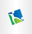 footballer shooting ball soccer icon vector image vector image