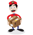 friendly delivery man vector image