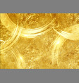 gold paint brush effect background gold leaf vector image vector image