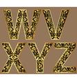 gold vintage decorative font vector image vector image