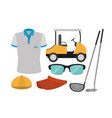 golf sport equipment vector image