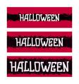 halloween banner design vector image vector image