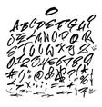 handwritten graffiti font alphabet artistic hip vector image vector image