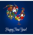 Happy New Year greeting poster Rooster symbol