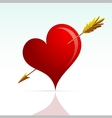 Heart shape with arrow vector image