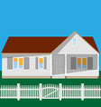 House and fence vector image vector image