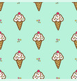 ice cream in waffle cone vector image vector image