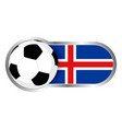 iceland soccer icon vector image vector image