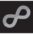 Infinity Symbol on Dark Background vector image vector image