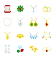 Jewelry icon flat vector image vector image