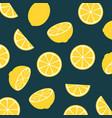 lemon citrus fruit food summer texture seamless vector image vector image