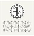 Monogram line art logo in Art Nouveau Style vector image vector image