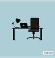 office desk icon office desk icon eps10 office vector image