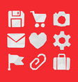 Paper Cut Icons for Web and Mobile Applications vector image