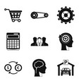 perquisition icons set simple style vector image vector image