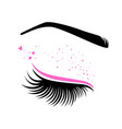 pink makeup for valentines day vector image vector image