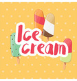 Poster design with colorful glossy ice cream vector image vector image