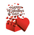 present gift with hearts decoration to valentine vector image vector image