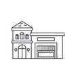 restaurant building thin line icon concept vector image
