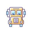 school bus rgb color icon vector image