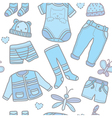 Seamless pattern baby boy clothes vector image vector image