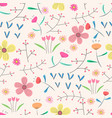 seamless pattern background with flowers vector image
