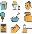 Set of colorful food icons vector image vector image